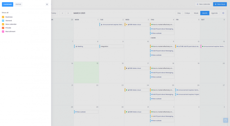 All calendars 800x440 - Agenda - basic informations