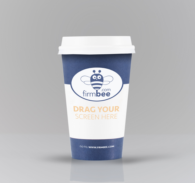 Blue cofee cup