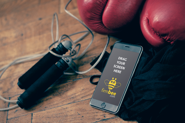 Boxing equipment and iPhone6+