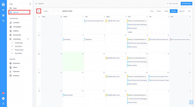 Calendar filters 800x440 - Agenda - basic informations