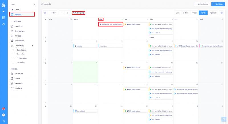 Calendar view 800x437 - Agenda - basic informations