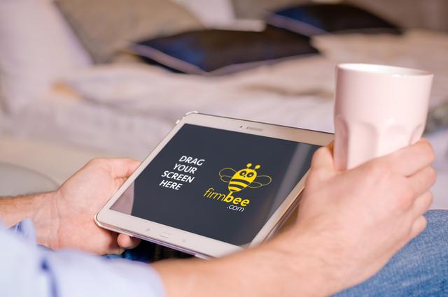 Coffee and Samsung Galaxy Tab 4