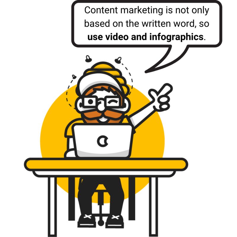 Content marketing is not only based on the written word so use video and infographics. 3 800x800 - Content marketing in 2020 - what else can you improve in your activities?