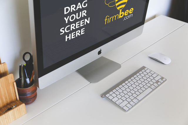 Freelance workspace iMac