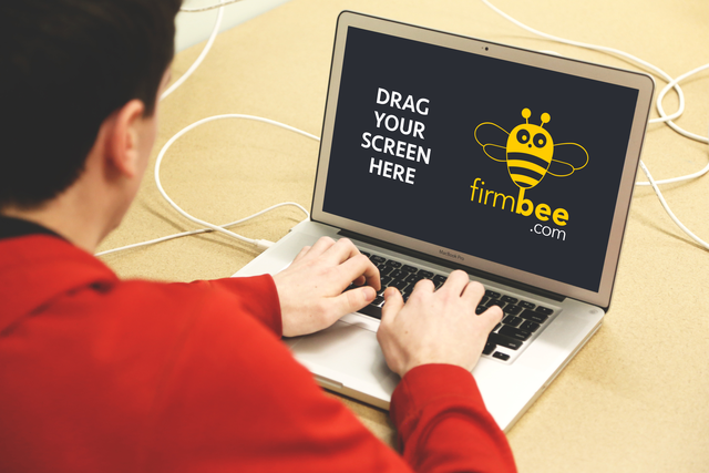 Freelancer with MacBook Pro