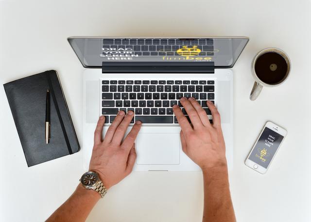 Freelancer with MacBook