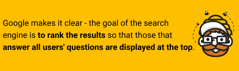 quote about google searching algorithms