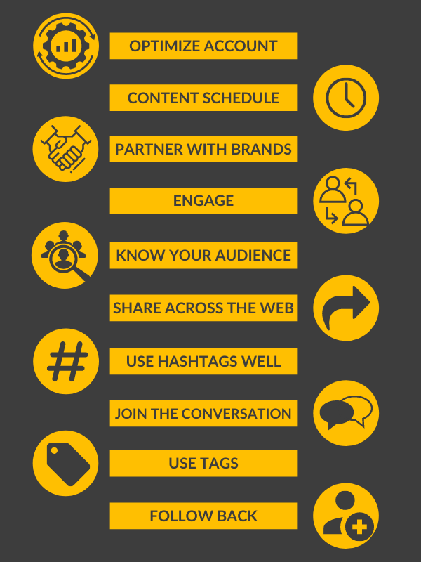 INSTAGRAM INFOGRAPHIC - 10 Ways to Increase Your Real Followers on Instagram