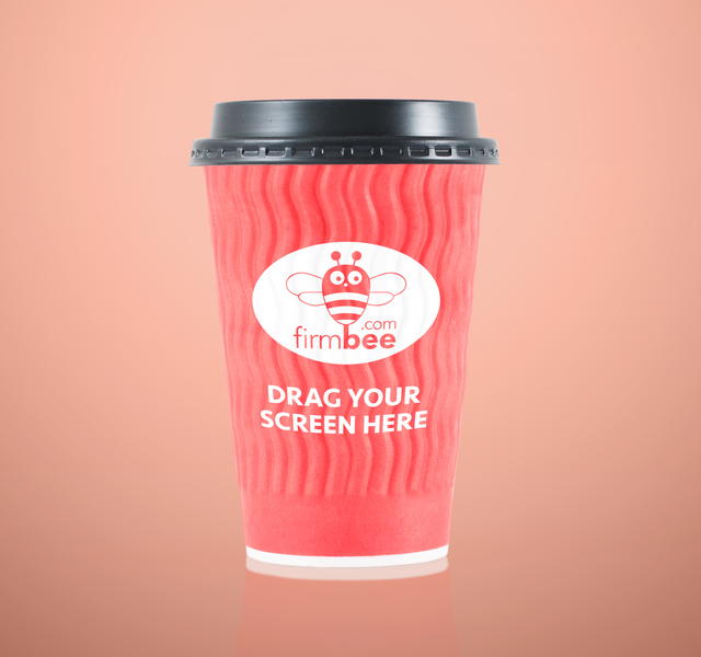 Pink coffee cup
