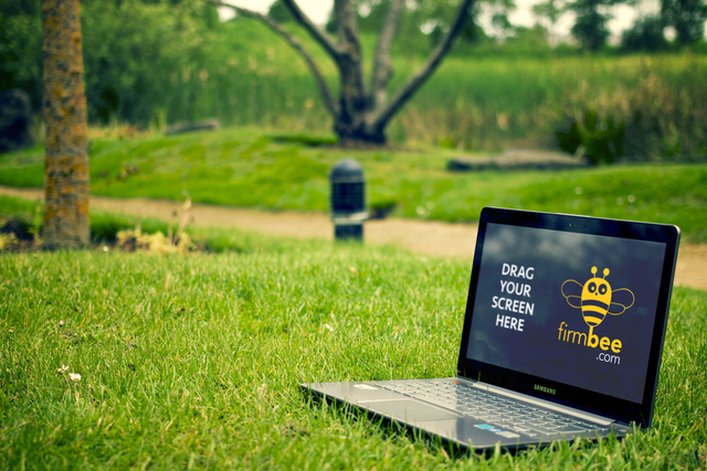 Samsung ATIV Book 9 Plus on the grass psd