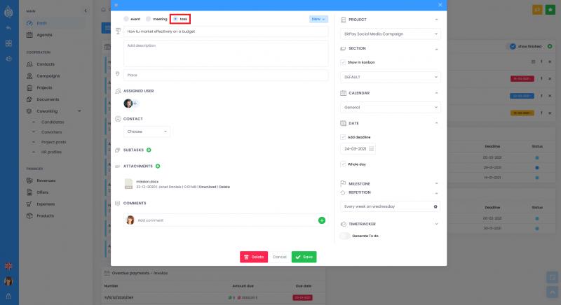 To do tasks 800x436 - Dashboard To Do list